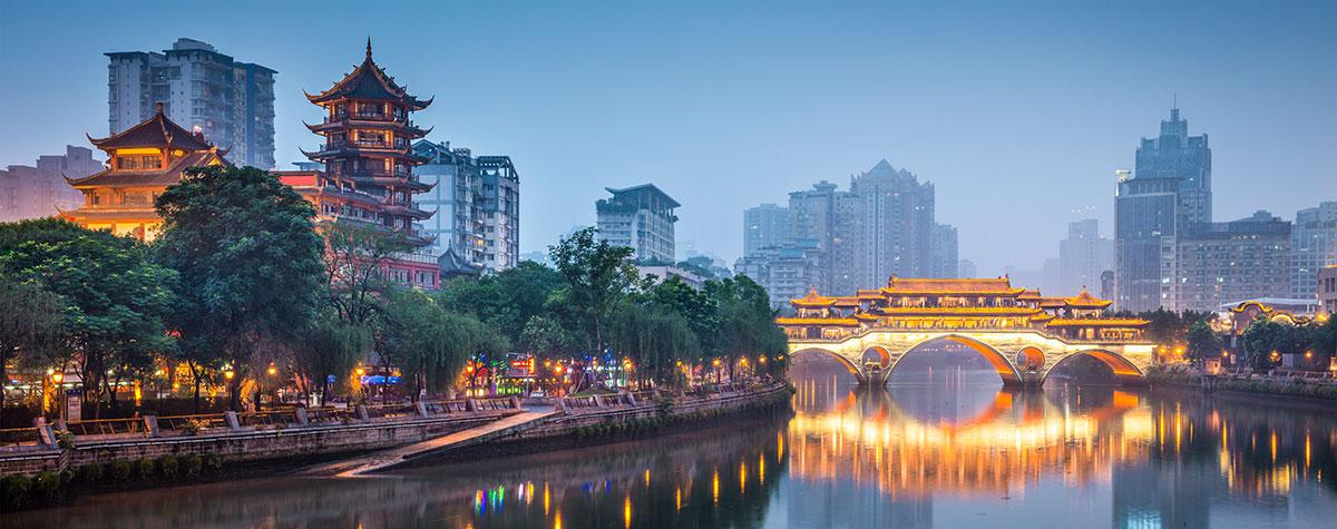 Brücke in Chengdu