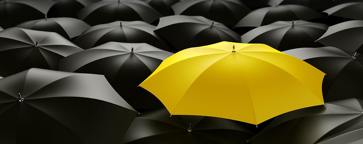 Gelber Schirm